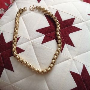 Statement Gold box type link Necklace